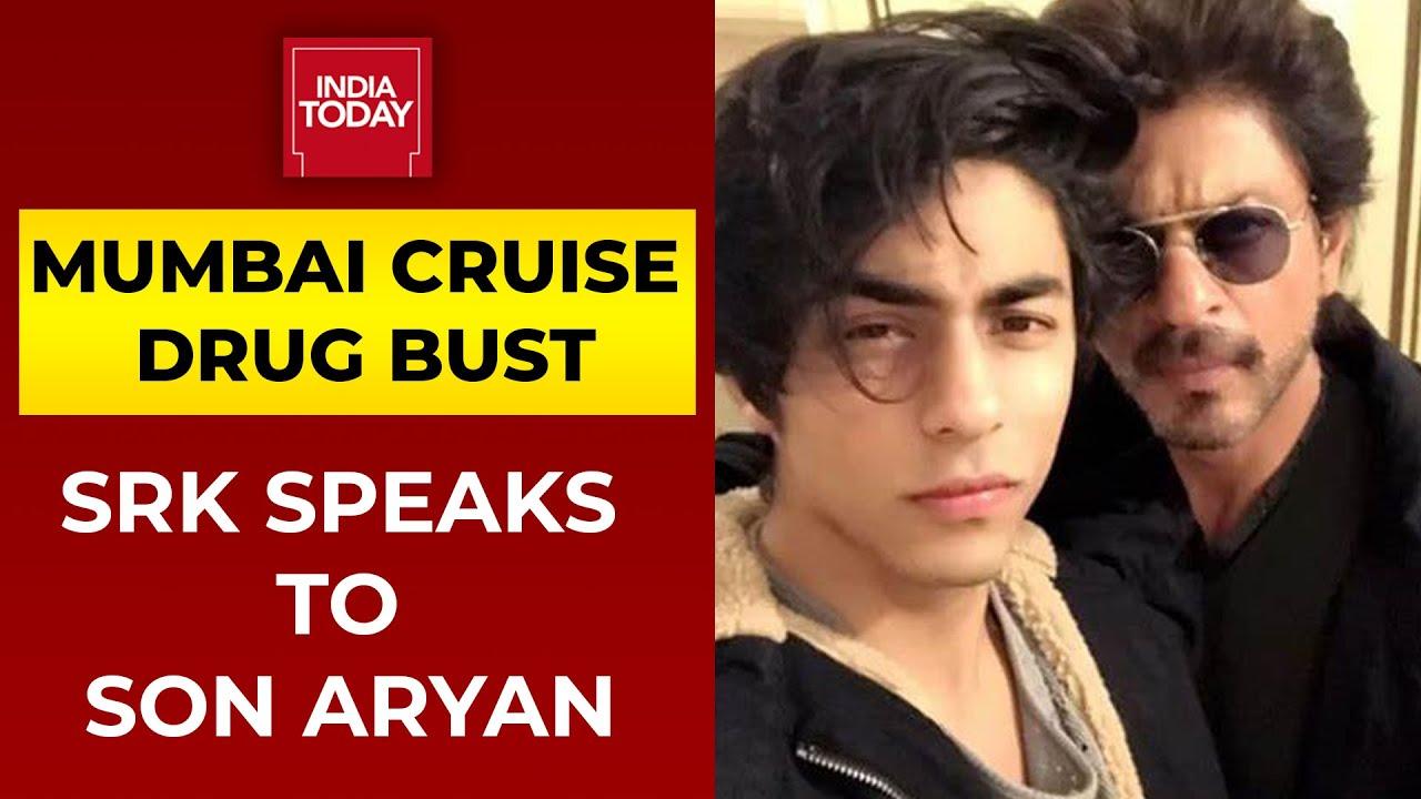 Download Mumbai Cruise Drug Bust: Shah Rukh Khan Speaks To Son Aryan Khan For 2 Minutes, Consoles Him