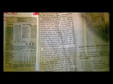 Detroit Tigers at Baltimore Orioles Full Game Broadcast WJR Oct 6 1991