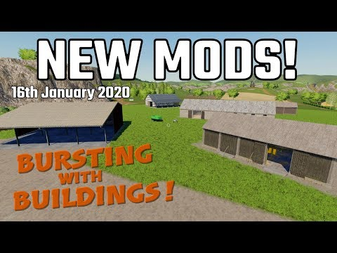 NEW MODS Farming Simulator 19 PS4 FS19 (Bursting With Buildings) (Review) 16th Jan 2020.