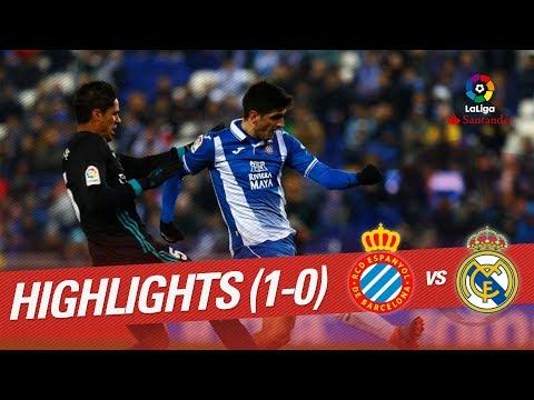 Resumen de RCD Espanyol vs Real Madrid (1-0)