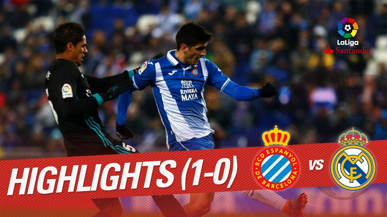 Resumen De Rcd Espanyol Vs Real Madrid 1 0 Youtube