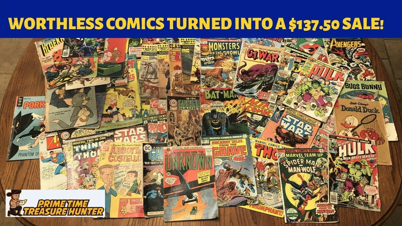 How I Turned A Stack Of Worthlesss Comics Into A 137 50 Ebay Sale Youtube