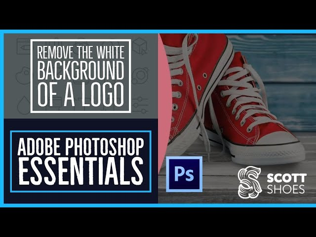 How to remove the white background of a logo - Photoshop CC Essentials [60/86]