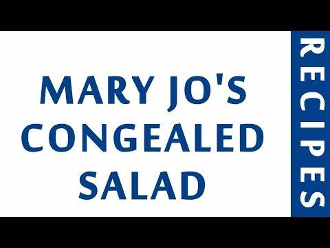 MARY JO'S CONGEALED SALAD | DIABETIC RECIPES | STEP BY STEP | HEALTHY RECIPES |