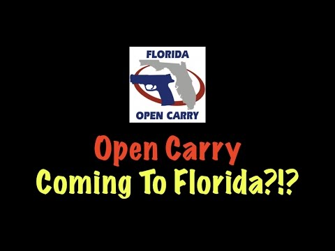Open Carry Coming To Florida?!?