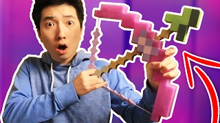 REAL LIFE MINECRAFT BOW TRICK SHOTS...