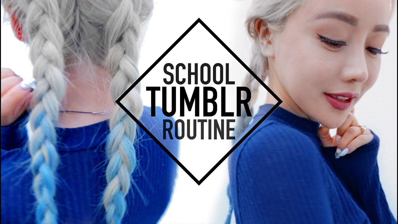 Tumblr Baddie School Routine Makeup Hair And Outfit