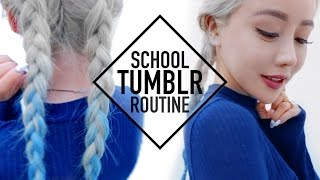 Tumblr Baddie School Routine Makeup Hair and Outfit ♥ Wengie