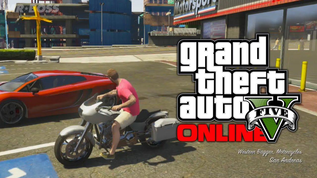 "GTA 5 Online: Franklin's Motorcycle ""Western Bagger ..."