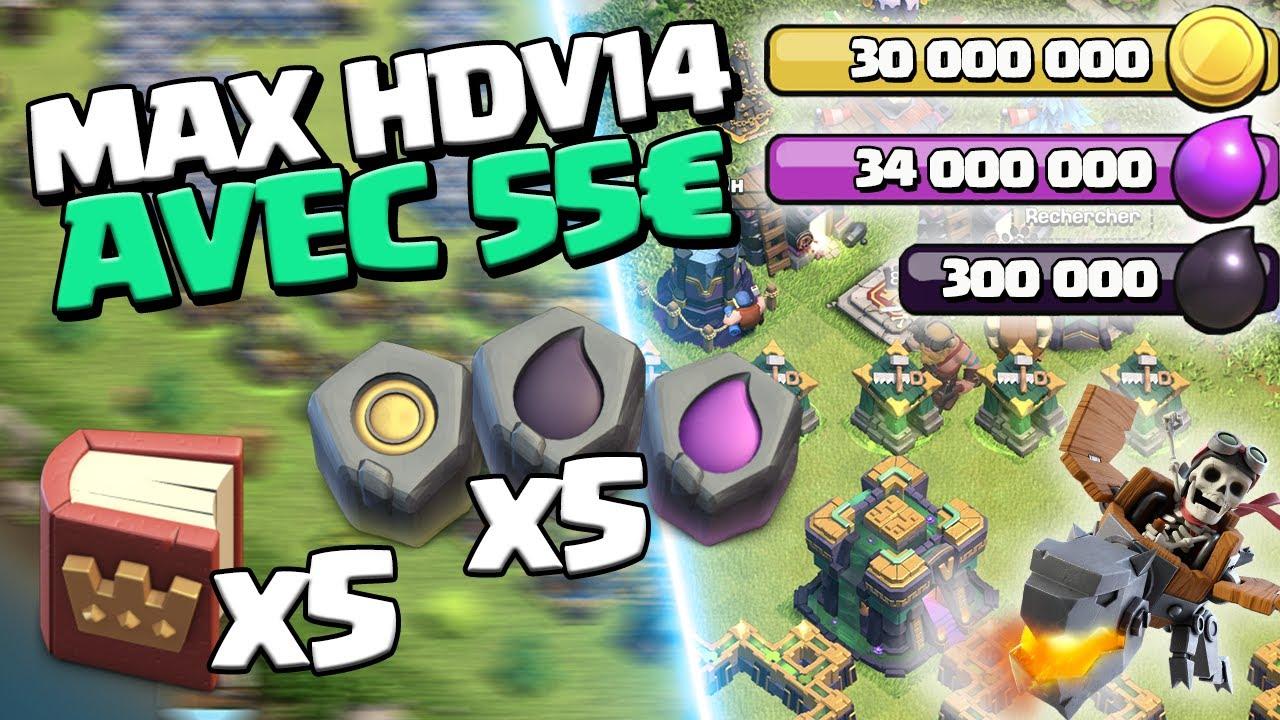 ON PAYE 55€ POUR MAXER L'HDV 14 ! Clash of Clans