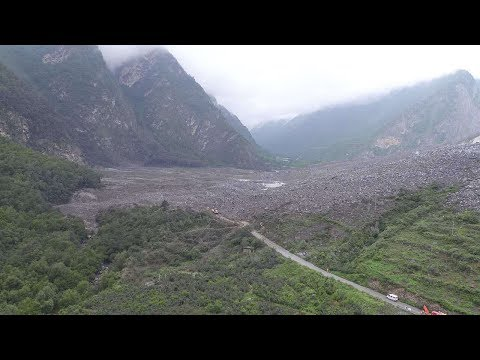 Aerial View of SW China landslide