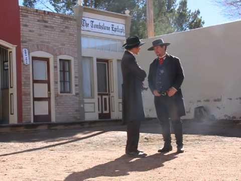 OK Corral Gunfight re-enactment in Tombstone, AZ, January 1, 2015