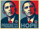 """Shepard Fairey + The Obama Poster (Boing Boing)"""