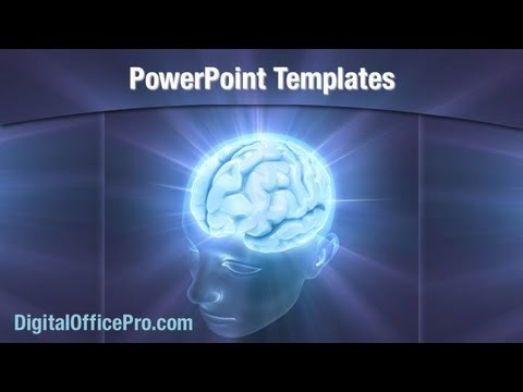 Human Brain Activity Powerpoint Template Backgrounds