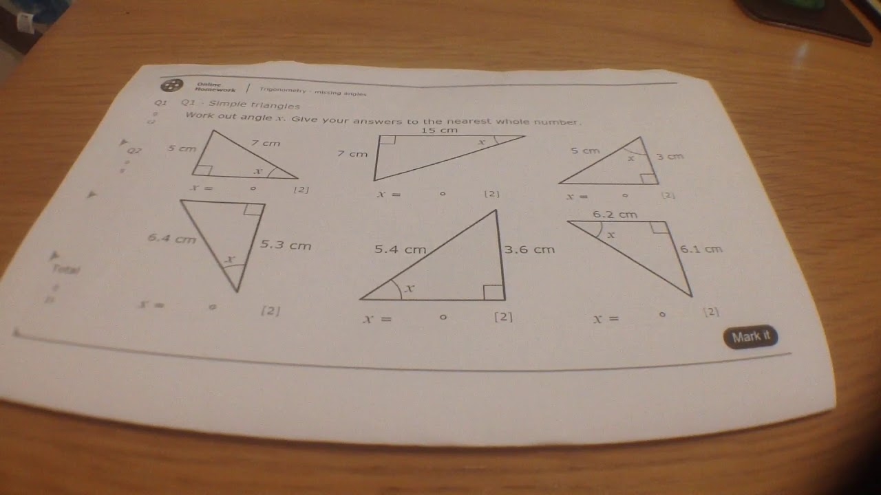 11ma1 mymaths trig missing angles q1 youtube. Black Bedroom Furniture Sets. Home Design Ideas