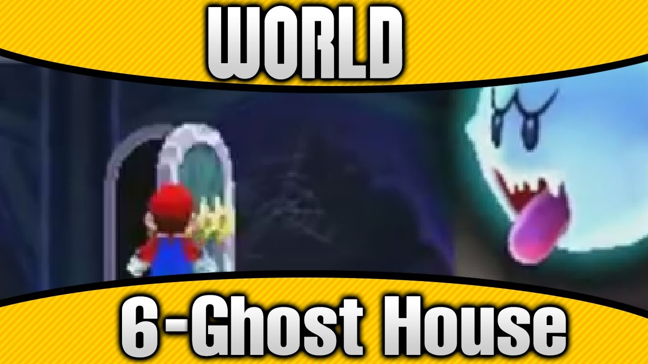 New Super Mario Bros  2 - World 6-Ghost House 100% All Star Coins & Secret  Exit