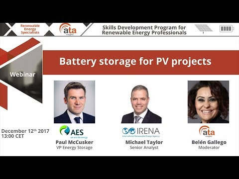 Webinar Battery storage for PV projects