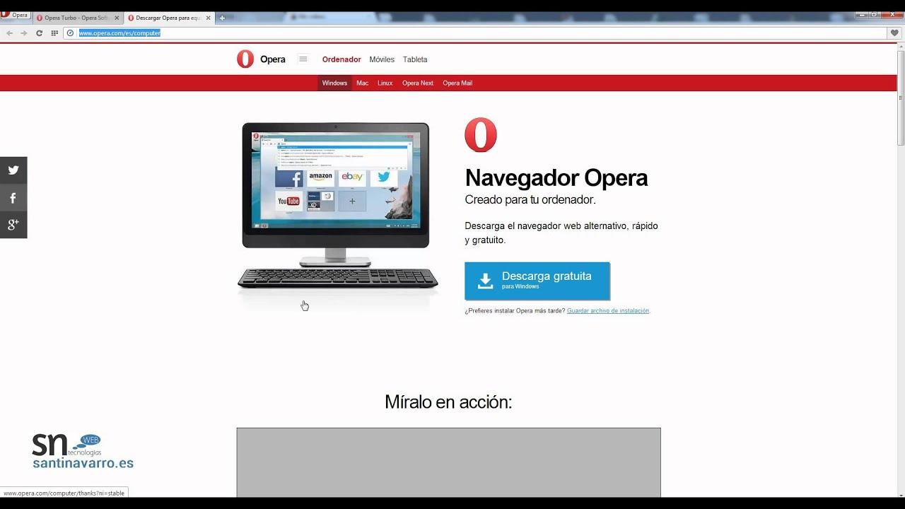 Navegador para conexiones lentas - Opera Turbo