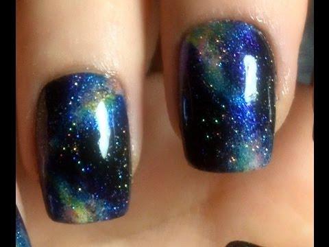 Galaxy Nail Art Zombiekitty