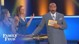 NEWSFLASH: If YOUR WIFE does THIS like a GUY...  | Family Feud
