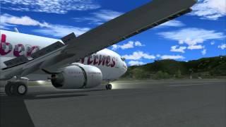 FS2004 - Landing in Saint Martin (TNCM) with Posky B737 800 Caribbean