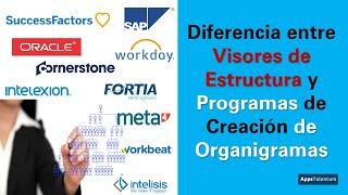 Visores Estructuras vs Programas de Organigramas