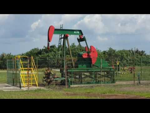 Oil mining using Donkey machine in brunei