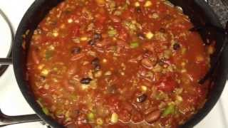 Mom's Chili Recipe!! - Made Weight Watcher Style! Fiber And Protein Packed!!! Quick & Easy!