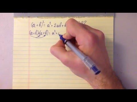 Секрет формулы Квадрата Суммы