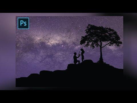 Photoshop Tutorial [-Milky Way Silhouette-] thumbnail
