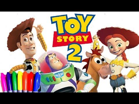 DISNEY Toy Story 2 Kids Cartoons Coloring Book Page Fun Art For Kids   Disney Cartoons - YouTube