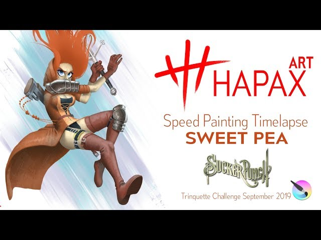 Speed Painting Timelapse | Sweet Pea from Sucker Punch (Trinquette Challenge September 2019)