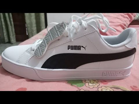 Puma Smash V2 Mid SD Unboxing on my bed