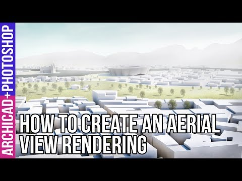 How to create anything in ArchiCAD: Urban Surrounding for flight perspectives