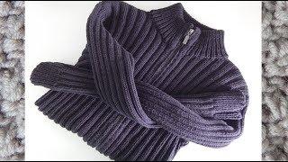 Как связать простой мужской свитер спицами на молнии