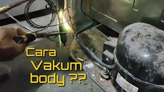 Cara memvakum kulkas tanpa alat vakum