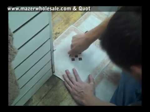 Watch Vinyl Floor Tile Installation Youtube