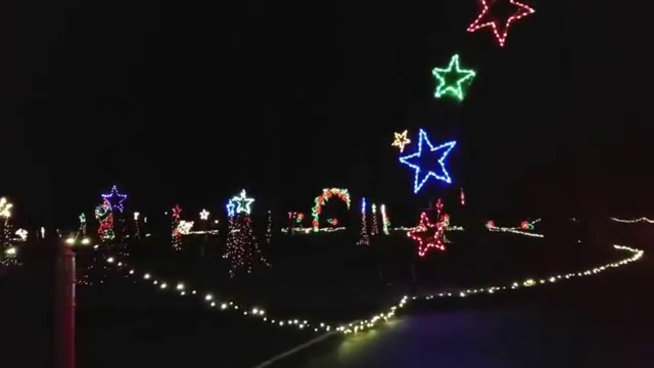 Spanaway Park Holiday Lights 2015 Drivers Side - YouTube