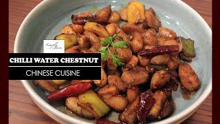 Chilli Water Chestnut | How To Make Delicious Chilli Starter | Starter | Simply Jain