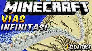 Minecraft - Genera Vías Infinitas con 1 sólo bloque de COMANDOS - ESPAÑOL TUTORIAL