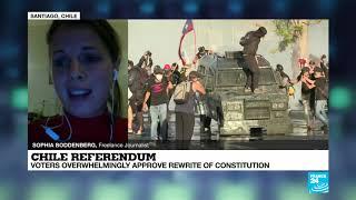 Celebrations as Chile votes to rewrite Pinochet-era constitution
