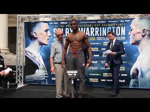 TWO TANKS FRANK WARREN DEBUT! - OHARA DAVIES v MELVIN WASSING - OFFICIAL WEIGH IN (LEEDS)