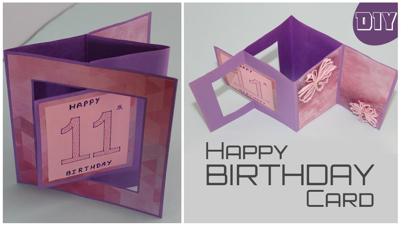 Swing Pop Out Card For Scrapbook