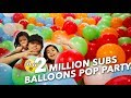 2 MILLION BALLOONS SUBS POP PARTY | Ranz and Niana mp3 indir