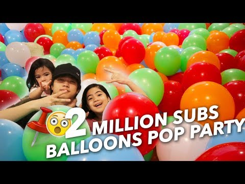 Download Youtube: 2 MILLION BALLOONS SUBS POP PARTY | Ranz and Niana