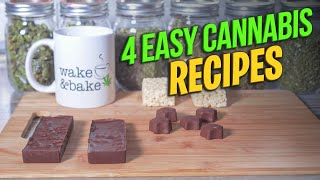 How To Make Edible: 4 Easy Cannabis Recipes with few Ingredients || 4 easy cannabis recipes