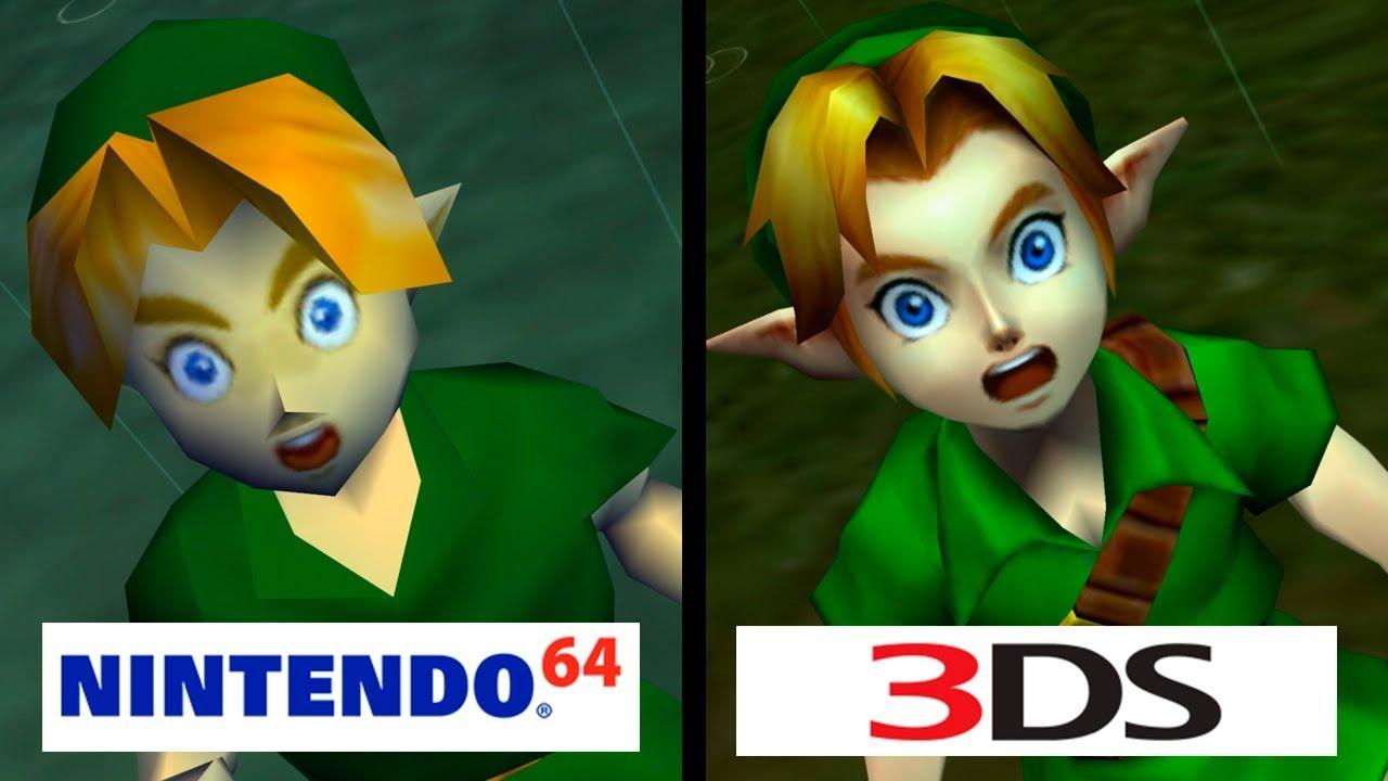 Zelda: Ocarina of Time | Nintendo 64 vs Nintendo 3DS | 4K Graphics  Comparison