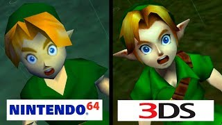 Zelda: Ocarina of Time | Nintendo 64 vs Nintendo 3DS | 4K Graphics Comparison