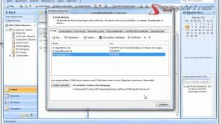 Unter Microsoft Outlook 2007 weiteres E-Mail-Konto einrichten am Beispiel GMX. Supportnet Tipp