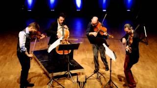 Brooklyn Rider plays String Quartet No. 1 by Tobias Broström (mvt. II)